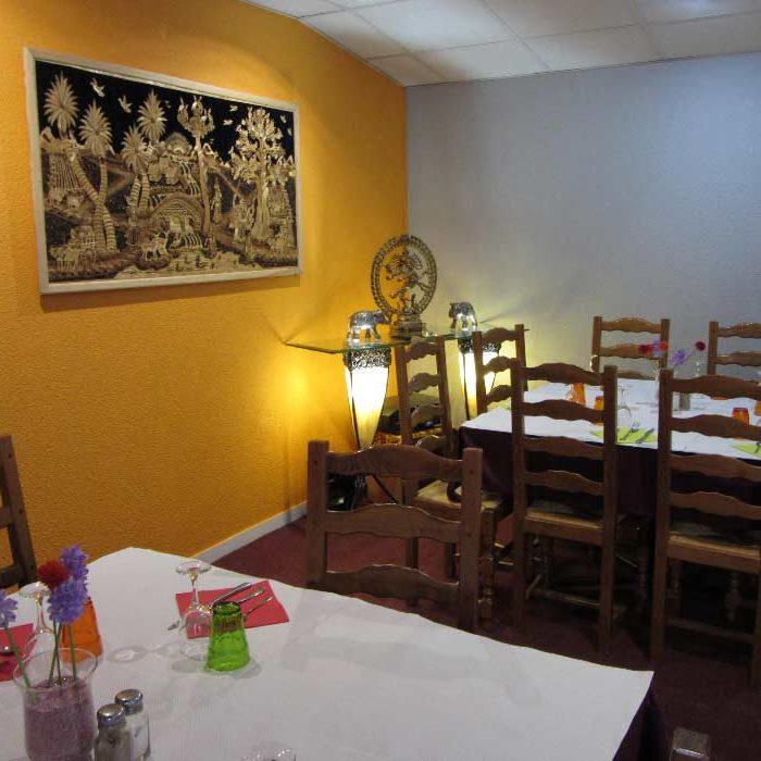 salle restaurant Le Natraj Hôtel Saint Aubin à Gournay-en-Bray cuisine du monde