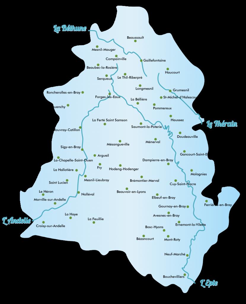 carte des communes cc4r com com 4 rivières